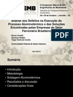 Análise dos Defeitos na Execução do Processo Aluminotérmico e das Soluções Encontradas pelas Empresas do Setor Ferroviário Brasileiro