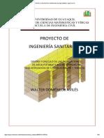 Diseño y Calculo de Las Instalaciones de Agua Potable I