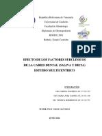 EfectosdelosFactoresSubclinicosCariesDental