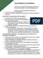 Fujimori y Los Medios