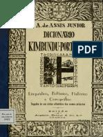 Dicionário Kimbundu Português (Assis Junior)