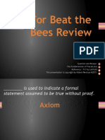 For Beat the Bees Review Precalculus