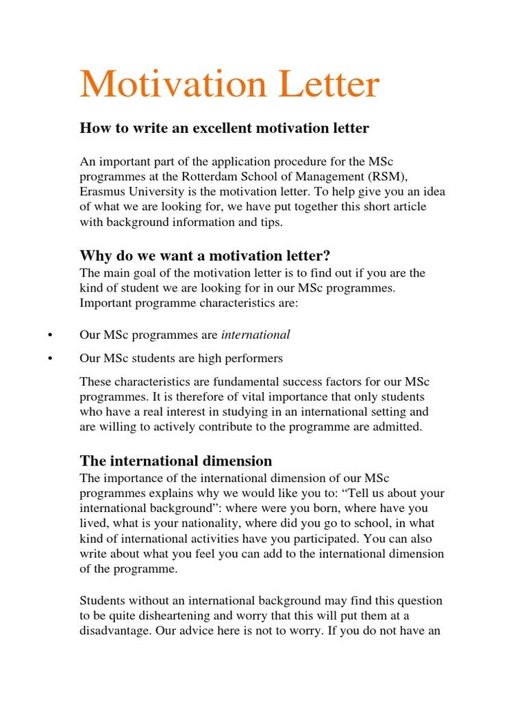 Rsm erasmus motivation letter self improvement motivation expocarfo Image collections