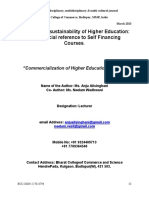 Commercialization of Higher Education in India