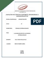 Globalizacion de Finanzas Internacionales