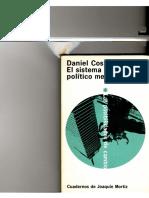 Daniel Cosío Villegas. El Sistema Político Mexicano