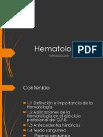 Introduccion a la hematologia