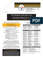 Cincinnati Bengals At Pittsburgh Steelers (Sept. 12)