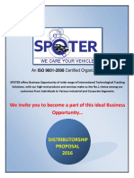 SPOTER - Distributor Proposal - 2016