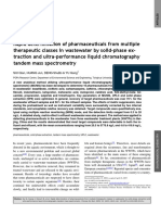 Rapid determination of pharmaceuticals from multiple therapeutic classes in wastewater by solid-phase ex-traction and ultra-performance liquid chromatography tandem mass spectrometry.pdf
