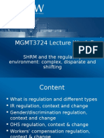 MGMT3724 Lecture Week 5 Regulatory Environment