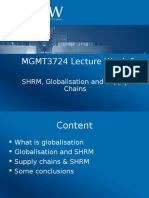 MGMT3724 Lecture Week 6 Globalisation and Supply Chains