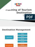 Planning for Tourism Destination