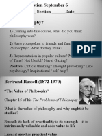 1100 Russell and the Value of Philosophy FA16
