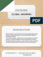 Outline Global Warming
