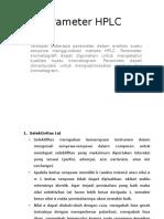 Parameter HPLC