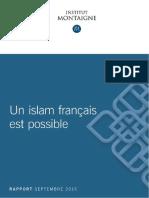 Institut Montaigne. Un islam français est possible