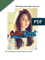 Website Resmi Judi Sabung Ayam Online Terpercaya