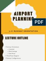 Lectut CEN 307 PDF Airport Runway Orientation