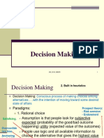 OB - PGP 1 2015-Decision Making and Conflict Management - Sent