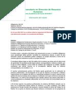 Oferta Academica Direccion Rrhh 16-17