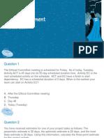 Time Management PMP questions