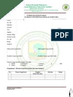 Form Pendaftaran BAKTI 2014
