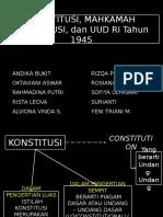 Konstitusi, Mk, Uud 45