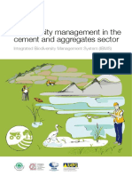 Biodiversity Management in the Cement