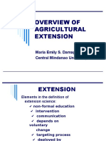 1.Overview of Agricultural Extension