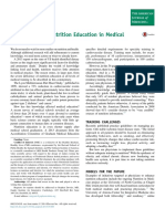 A Deficiency of Nutrition Education in Medical Training