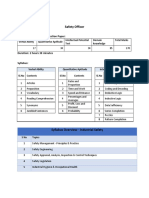 Safety Officer Syllabus Hpcl