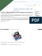 l298n Dual Motor Controller Module