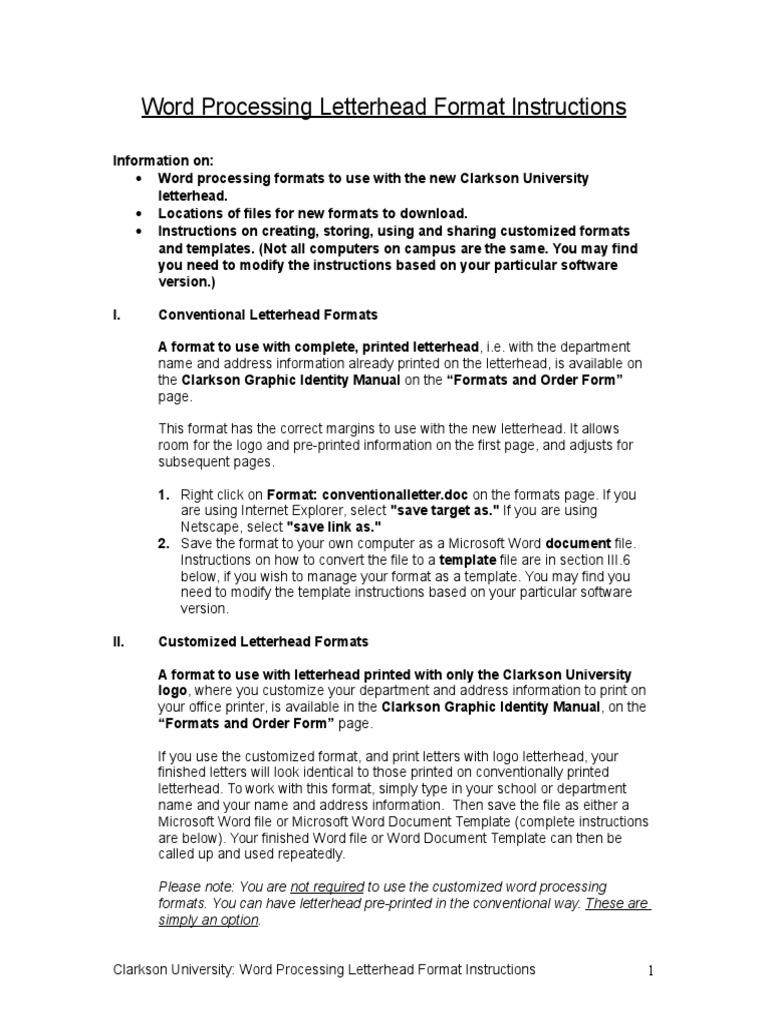 Instructions Doc File Format Microsoft Word