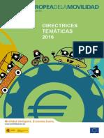 Semana Europea de la Movilidad  2016 - Directrices Temáticas