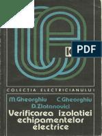Verificarea Izolatiei Echipamentelor Electrice