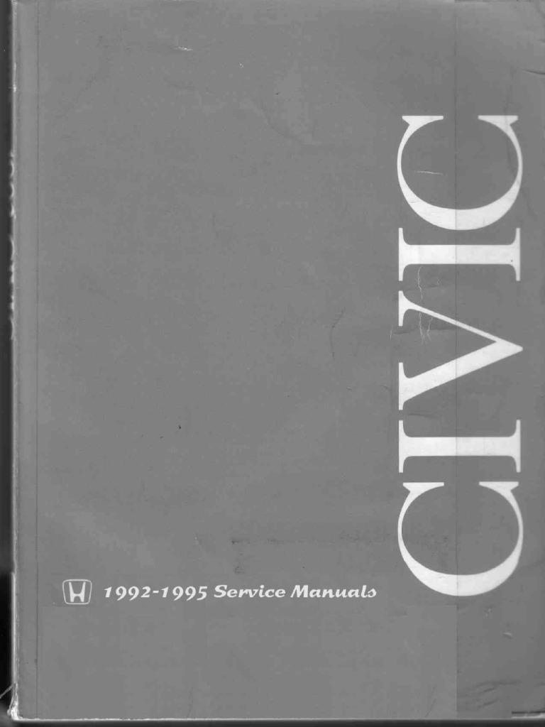 Honda Civic 1992 - 1995 Service Manual.pdf   Diode   Electrical ...