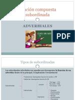 Subordinadas Adverbiales ÉSTE 1º Bach
