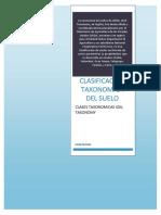 Informe de La Clasificación Taxonómica
