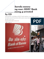 Bank of Baroda Money Laundering Case