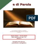 Sete di Parola - XXV settimana C 2016.doc