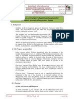 Development of Emergency Response Procedure for Accidents Involving Dangerous Goods