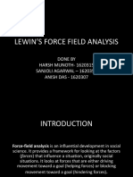 Lewin's Force Field Analysis