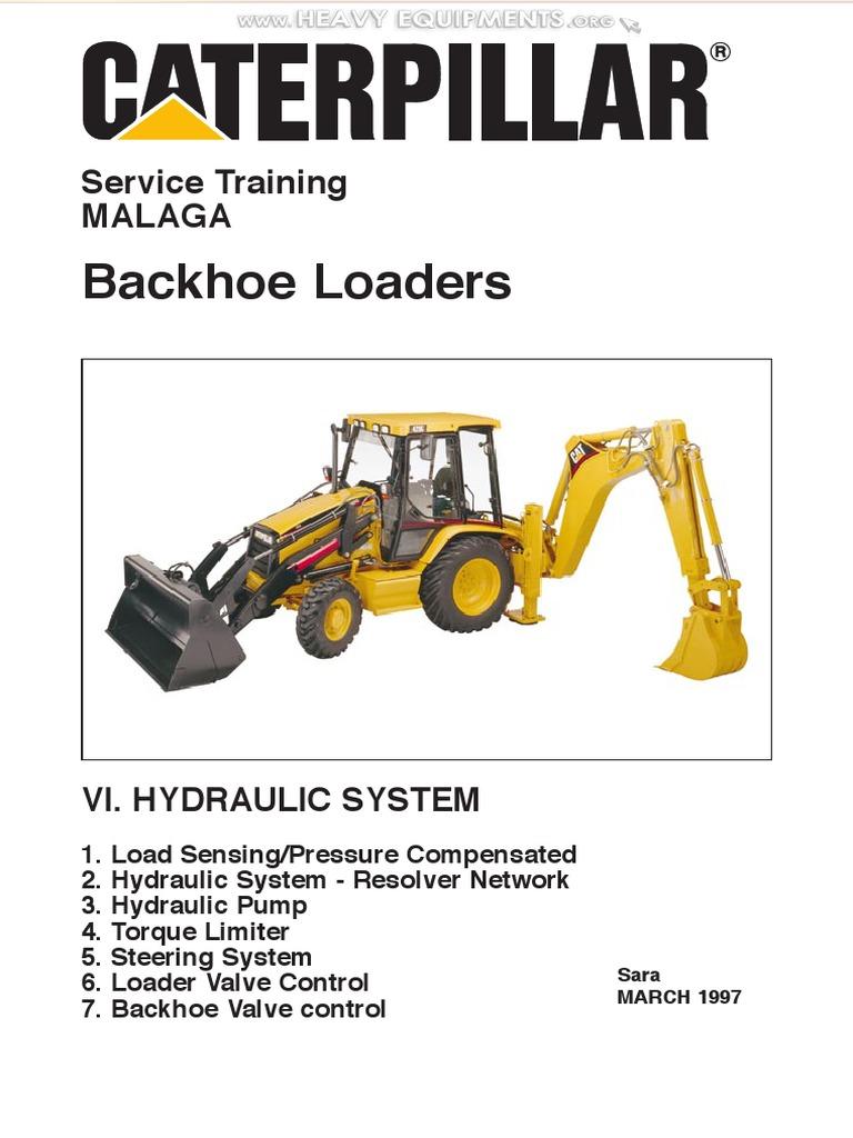Manual Training Hydraulic System Caterpillar Backhoe Loaders Loader Equipment Pump