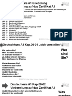 A1 Deutsch Einführung Vorbereitung auf das Zertifikat A1