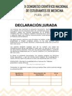Declaración Jurada Ccn Piura 2016 Procrastinación