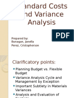Standard Cost and Variance Analysis