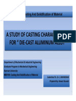 A Study of Casting Characteristics for Die Cast Aluminum Alloy-Anwar Hussain