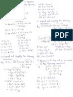 Expression and Algebraic Equations