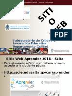 Presentación Sitio Web Aprender
